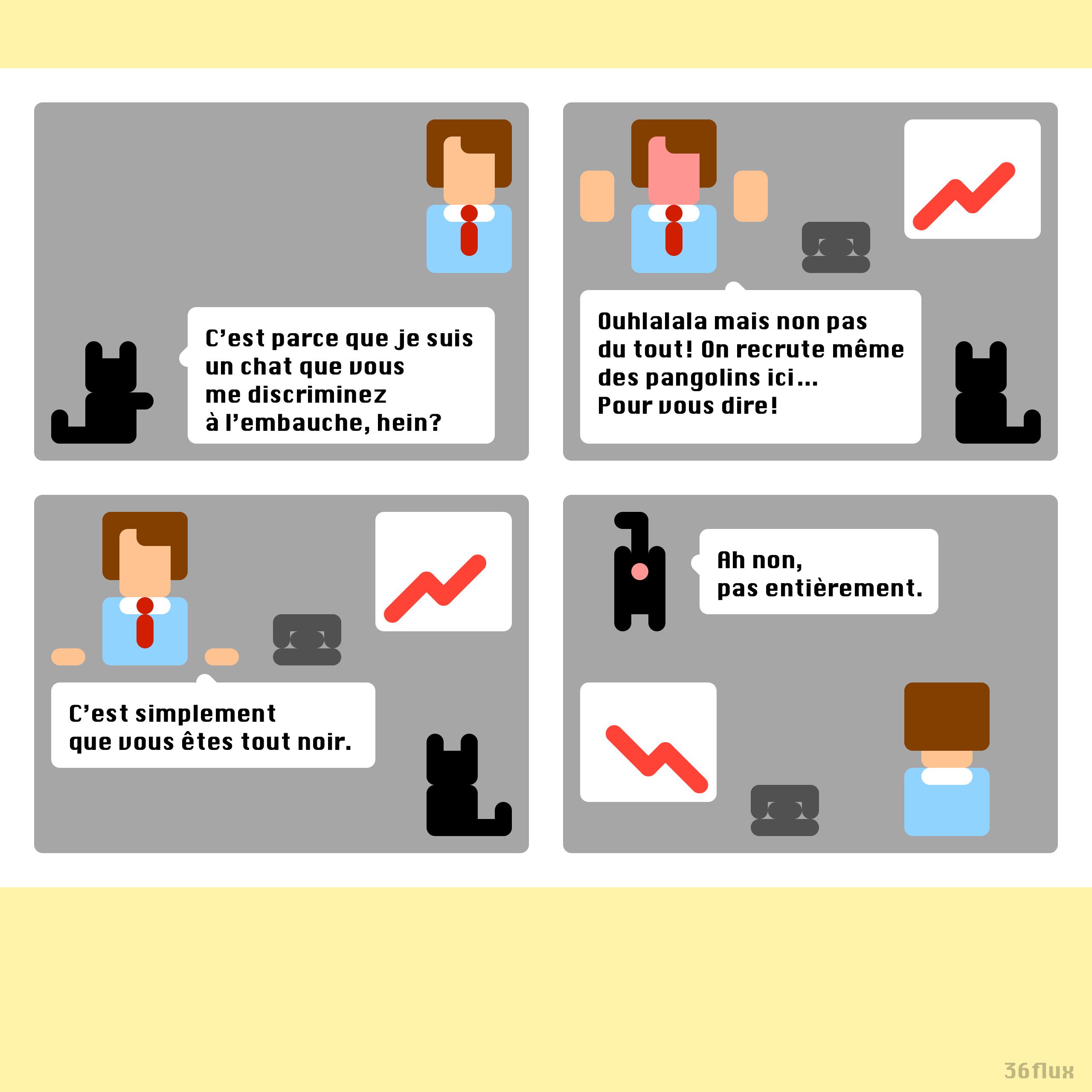 webcomics entretien d'embauche, discrimination