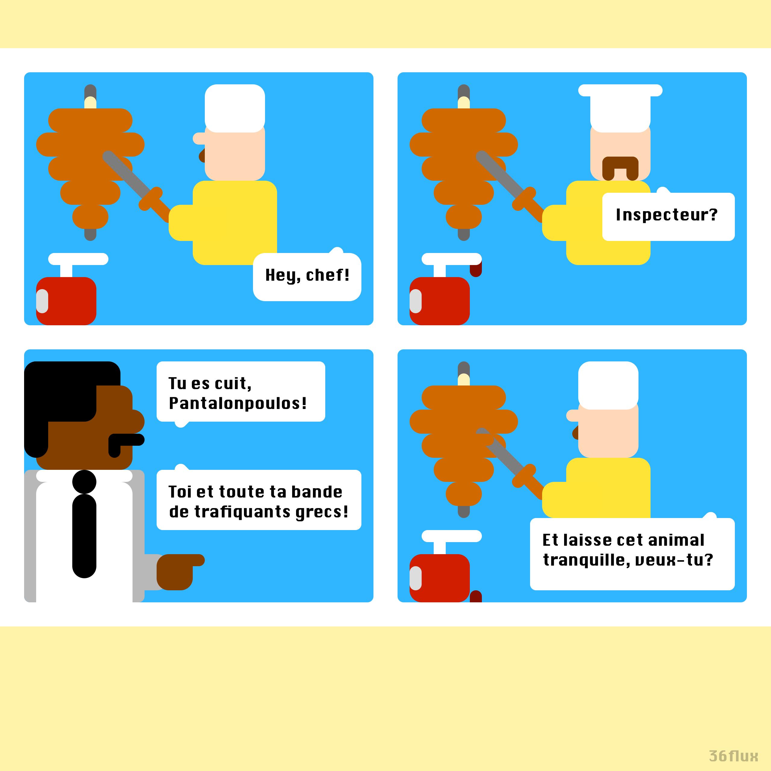 webcomics Kebab, grec