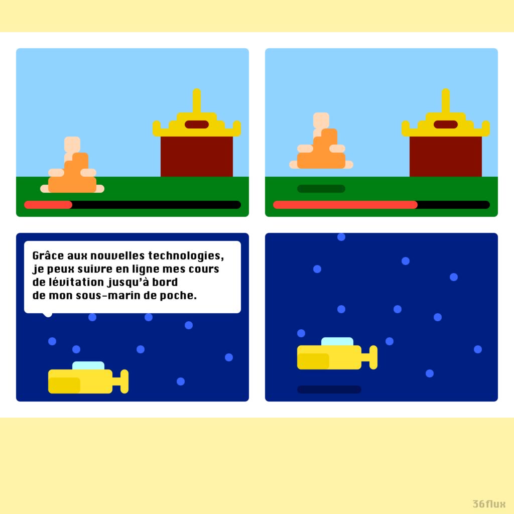 lévitation, sous-marin